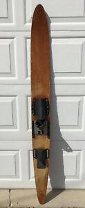 "Antique Vintage Wooden Wood Waterski Slalom 67"" Log Cabin Mancave Wall Decor"