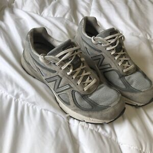 Size 10 - New Balance 990v4 Castlerock Very Comfortable *NO INSOLES* Grey