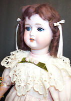 """Antique 24"""" German Bisque Head Doll with Jointed Composition Body"""