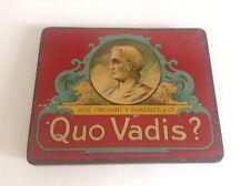 Ancienne boite en métal fer Cigares Quo Vadis BON ETAT