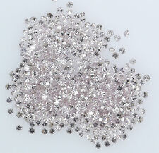 Natural Loose Diamond Round Pink Color SI1 Clarity 1.0 to 1.10 MM 25 Pcs Lot K11