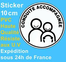 Sticker Autocollant Disque neuf Conduite accompagnée 10cm Voiture auto Adhésif