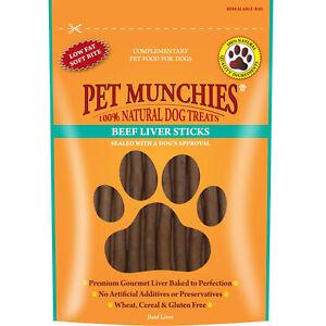 Pet Munchies Hypoallergenic Dog Treats - Beef Liver Sticks 90g