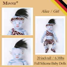 """Realistic Lifelike Solid Silicone Reborn Avatar Baby Doll Girl With Hair 20"""""""