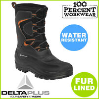 Heavy Duty Fur Lined Thermal Walking Hiking Work Boots Wellington Winter Warm