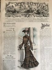 French MODE ILLUSTREE SEWING PATTERN Oct 5 ,1902 TOILETTE DE VISITE, CORSET