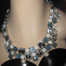Betsey Johnson Women's Blue La La Multi Stone Cluster Necklace