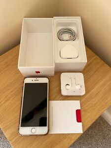 Superb Apple iPhone 7 (PRODUCT)RED - 128GB - (EE) A1778 (GSM) & Leads & Box
