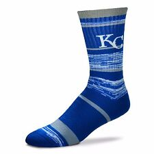 MLB Kansas City Royals Logo RMC Stripe Mens Large Crew Cut Socks