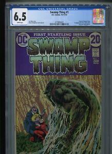 DC Swamp Thing #1 (1972) CGC 6.5 WHITE Len WEIN Bernie WRIGHTSON (Origin!)