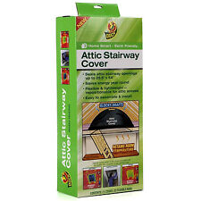 Black Attic Stair Way Opening Cover Door Seal Draft Protect Home Insulation New