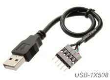 8-inch USB 2.0 A-Male to (1x5) 5-Pin IDC Motherboard Connector Adapter Cable