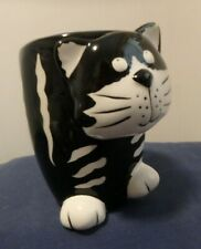 Black and White Cat Mug 3D Chester the Cat, Burton & Burton, Ceramic