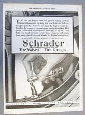 10 x 14 Original 1925 Schrader Tire Balloon Tire Gauges Ad USE FOR LONGER WEAR
