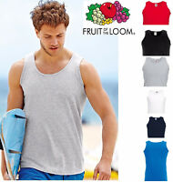 Mens Fruit of the Loom Plain Vests Tank Top Gym Training T Shirt 2, 3 or 5 Pack