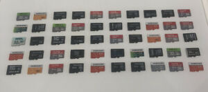 50 USED MICRO SD CARDS, ASSORTED BRANDS, 32GB