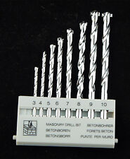 "8Pcs Masonry Drill Bit Set 1/8"" to 3/8"" M-9 Carbide Tip, Concrete, Brick, Tile"