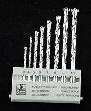 "8Pcs Masonry Drill Bit Set 1/8"" to 3/8"" M-9 Carbide Tip, Concrete, Brick, Tile"