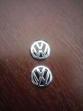 2x 14MM VW Volkswagen Black KEY FOB LOGO BADGE EMBLEM STICKER