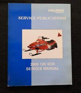 2000 POLARIS 120 XCR SNOWMOBILE SERVICE REPAIR MANUAL VERY GOOD SHAPE