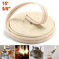 15 FT 4.5M Flat Cotton Oil Lamp Lantern Wick 15MM for Kerosene Burner *