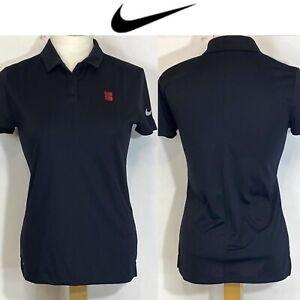 Nike Womens Dri-Fit Golf Polo Shirt Size S Black