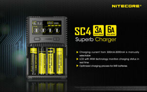 Nitecore SC4 3A 6A Super Quick Battery Charger