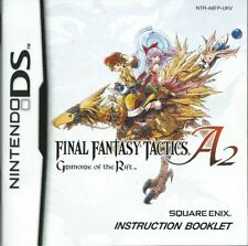 *INSTRUCTION BOOK ONLY* final fantasy tactics a2 grimoire of the rift ds mint