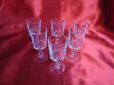 6 verres à liqueur en cristal D' ARQUES service LOUVRE