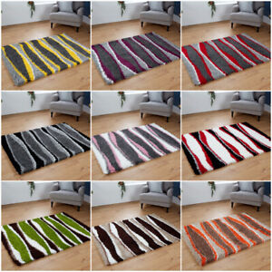 large small living area floor cosy 5cm thick pile design shaggy Wave pattern rug
