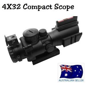 4X32 Compact Rifle Scope Telescopic Scope Sight Fiber Optics Sight New