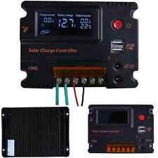12V/24V 20A LCD Solar Panel Battery Regulator Charge Controller Powder Mppt Tool