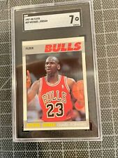 1987-88 FLEER #59  MICHAEL JORDAN CHICAGO BULLS BASKETBALL CARD SGC NM 7 #2