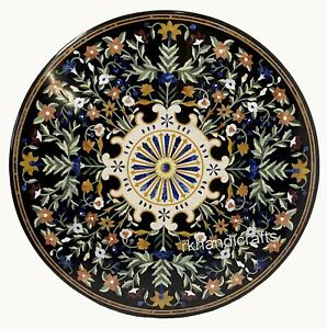 Round Marble Restaurant Table Top with Royal Pattern Dining table top 36 Inches