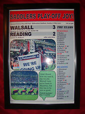 Walsall 3 Reading 2 - 2001 play-off final - framed print