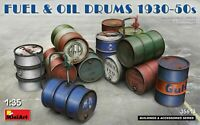 Miniart 1:35 scale model kit parts - Fuel & Oil Drums 1930-50's 	 MIN35613