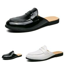 Men Slingbacks Loafers Slippers Faux Leather Shoes Pumps Slip on Party Casual D
