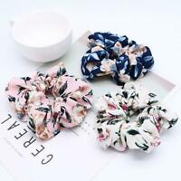 Sweet Flower Hair Scrunchie Girls Ponytail Holder Soft Elastic Hair Ties Rope