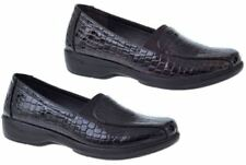 Wet look, Shiny Plus Size Casual Flats for Women