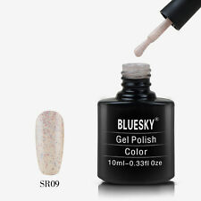 SR09 Bluesky Soak Off UV LED Gel Nail Polish Granulated Multi Color Specks Cream