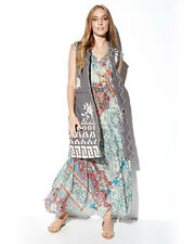 Johnny Was Bellini Graphic-Print Maxi Dress Green new XSMALL