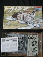 Vintage 1985 Monogram F-4J Phantom Mig Ace 1/48 Scale Model Kit