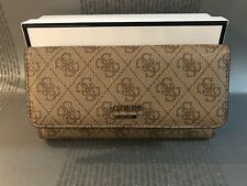 Guess BROWN DOWNTOWN COOL WALLET PURSE Brand New