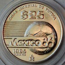 Mexico 25 Pesos 1985, FIFA World Cup 1986 in Mexico, Silver coin