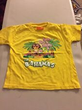 Girls Boys Dora The Explorer Yellow Bahamas T-SHIRT Size S Youth