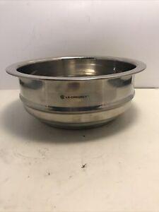 Stainless Steel Deep Steamer Insert LE CREUSET for 20. 18, 16 cm