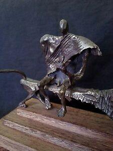 """Original Aharon Bezalel abstract bronze sculpture """"King David"""""""