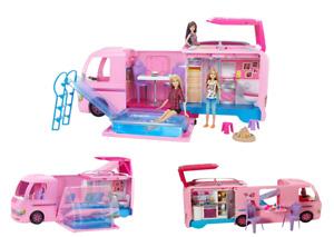 Barbie Wohnmobil FBR34 Super Abenteuer Camper mit Zubehör, 360° Spielset