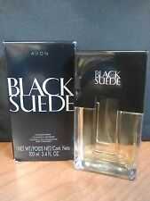 Avon Black Suede Sport Cologne Spray for Men Full Size 3.4 FL Oz