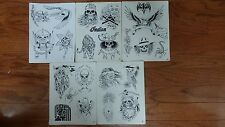 Tattoo Flash -  Set A- 10 Sheets of Quality Designs-$$$